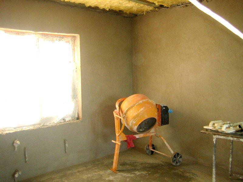 Штукатурка стен из пенобетона своими руками видео
